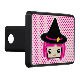 Kawaii Pink Haired Witch Trailer Hitch Cover