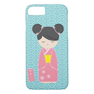 Kawaii Pink Kokeshi iPhone 7 Case