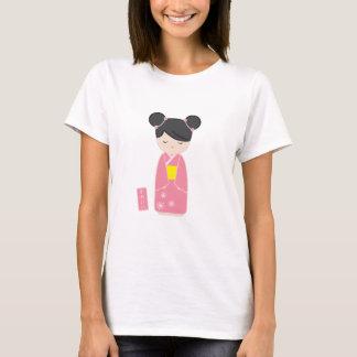 Kawaii Pink Kokeshi T-Shirt