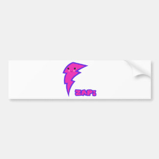 kawaii pink lightning bolt bumper sticker