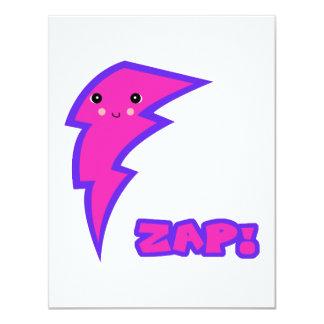 kawaii pink lightning bolt card