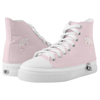 Kawaii pink narwha High-Top sneakers