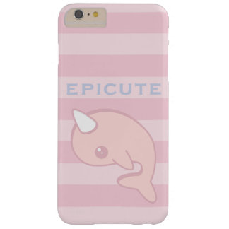 Kawaii Pink Narwhal Barely There iPhone 6 Plus Case