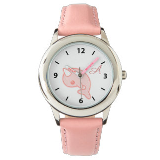 Kawaii Pink Narwhal Wrist Watch