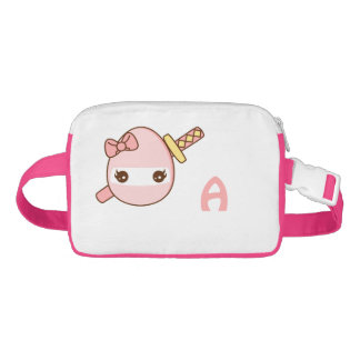 kawaii pink ninja egg waist bag