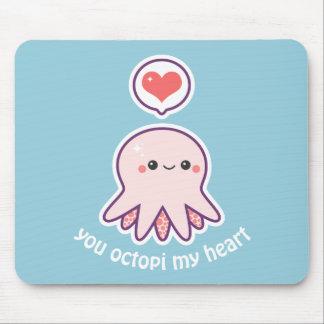 Kawaii Pink Octopus Mouse Pad