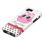 Kawaii pink owl - Personalized iPhone 5 Cases
