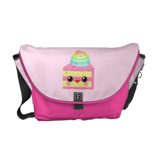 Kawaii Pink Rainbow Cake Courier Bag