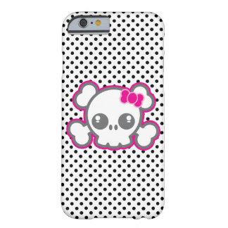 Kawaii Pink Ribbon Skull iPhone Case