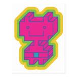 Kawaii Pink Robot Postcard