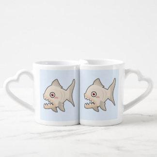 Kawaii Piranha Coffee Mug Set