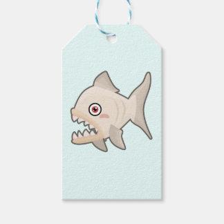 Kawaii Piranha Gift Tags