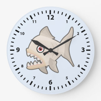 Kawaii Piranha Large Clock