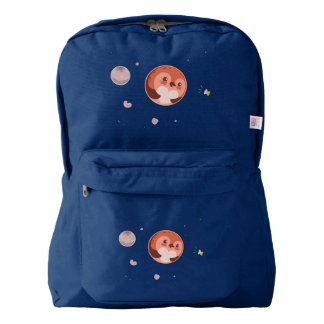 Kawaii Pluto Penguin Planet and Moons American Apparel™ Backpack