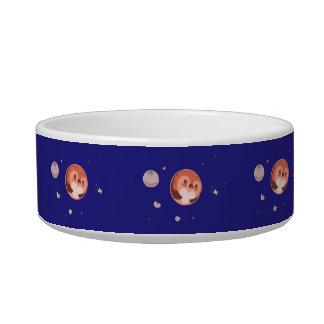 Kawaii Pluto Penguin Planet and Moons Bowl