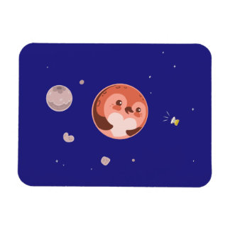 Kawaii Pluto Penguin Planet and Moons Magnet
