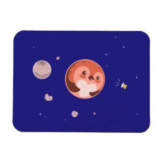 Kawaii Pluto Penguin Planet and Moons Rectangular Photo Magnet