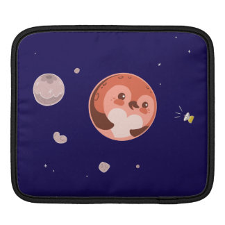 Kawaii Pluto Penguin Planet and Moons Sleeve For iPads