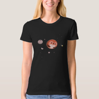 Kawaii Pluto Penguin Planet and Moons T-Shirt