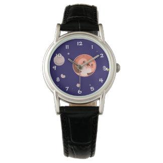 Kawaii Pluto Penguin Planet and Moons Wristwatch