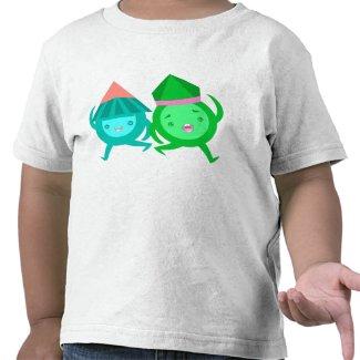 Kawaii Pointy Head Guys Cartoon Kid's T-Shirt shirt