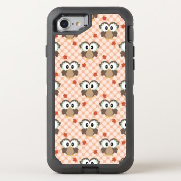 USA Themed Kawaii Polka Dot Fall Owl OtterBox Defender iPhone 7 Case