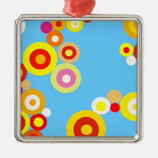Kawaii Polka Dot pattern Metal Ornament