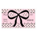 Kawaii Polka Dots Bow Business Card