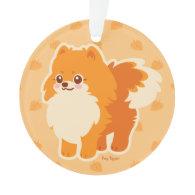Kawaii Pomeranian Cartoon Dog