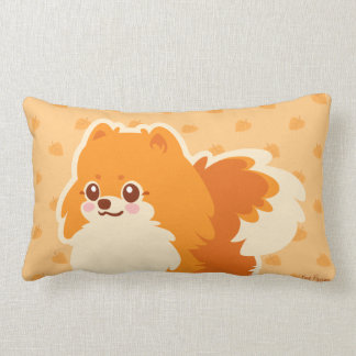 Kawaii Pomeranian Cartoon Dog Lumbar Pillow