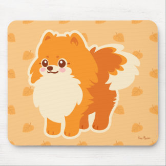 Kawaii Pomeranian Cartoon Dog Mouse Pad