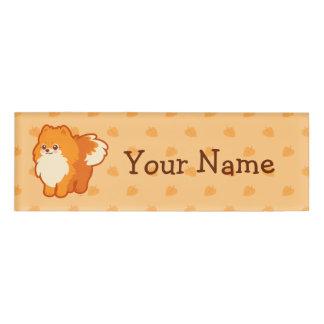 Kawaii Pomeranian Cartoon Dog Name Tag