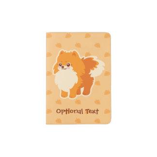 Kawaii Pomeranian Cartoon Dog Passport Holder