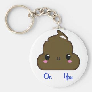 kawaii poo basic round button keychain