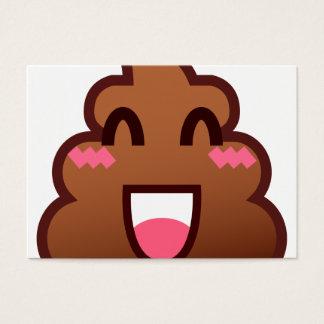 kawaii poop emojis business card