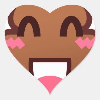 kawaii poop emojis heart sticker