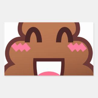 kawaii poop emojis rectangular sticker