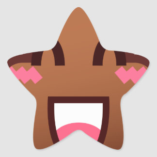 kawaii poop emojis star sticker