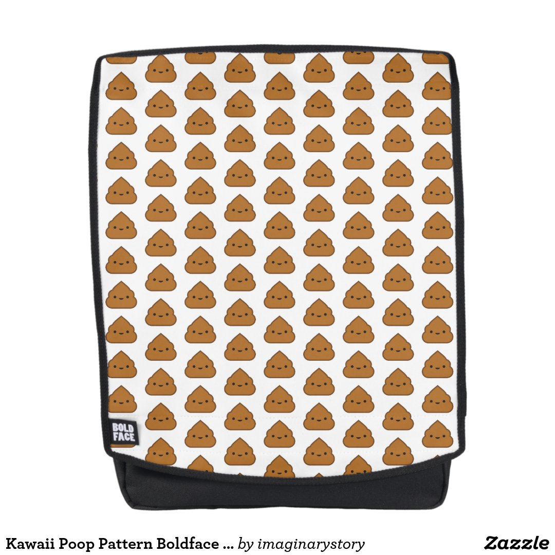 Kawaii Poop Pattern Boldface Backpack