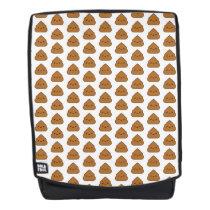 Kawaii Poop Pattern Boldface Backpack