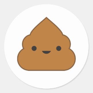 kawaii poop sticker