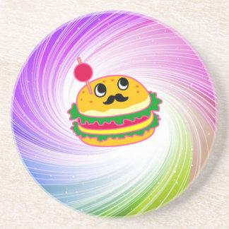 kawaii psychedelic hamburger coaster