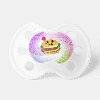 kawaii psychedelic hamburger baby pacifier