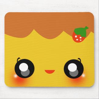 Kawaii Pudding Mouse Pad