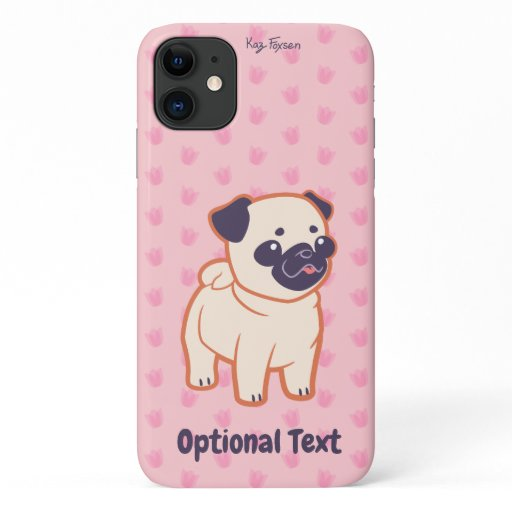 Kawaii Pug iPhone 11 Case