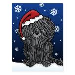 Kawaii Puli Christmas Postcard