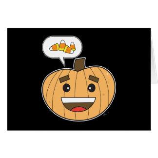 Kawaii Pumpkin - Greeting Card