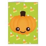 Kawaii Pumpkin Greeting Card