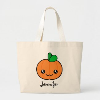 Kawaii Pumpkin Halloween Personalized Tote Bag bag