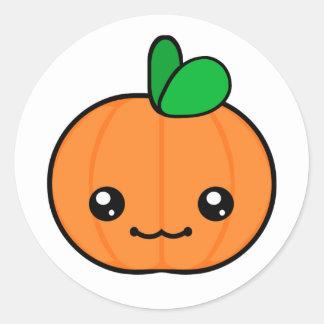 Kawaii pumpkin stickers zazzle kawaii pumpkin halloween sticker thecheapjerseys Choice Image